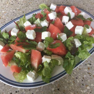 frisse watermeloensalade